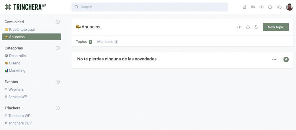 Comunidad de TrincheraWP - Web