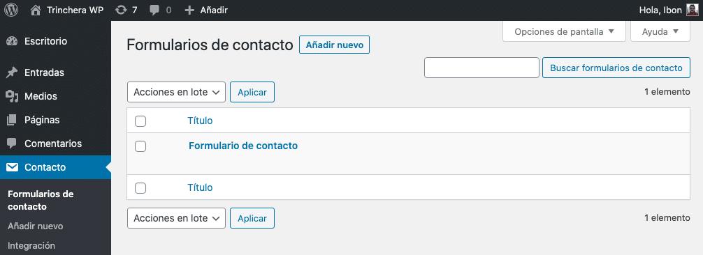 Contact Form 7 - Trinchera WP